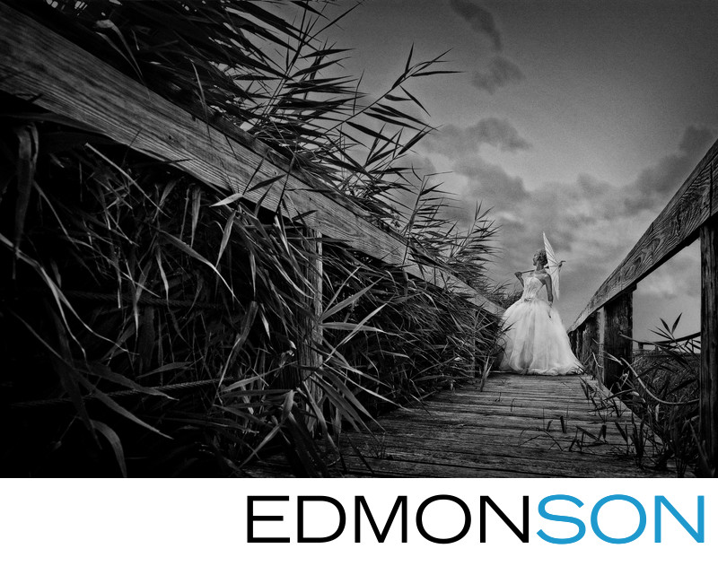 Ft. WorthOutdoors Bridal Portrait In Ft. Worth