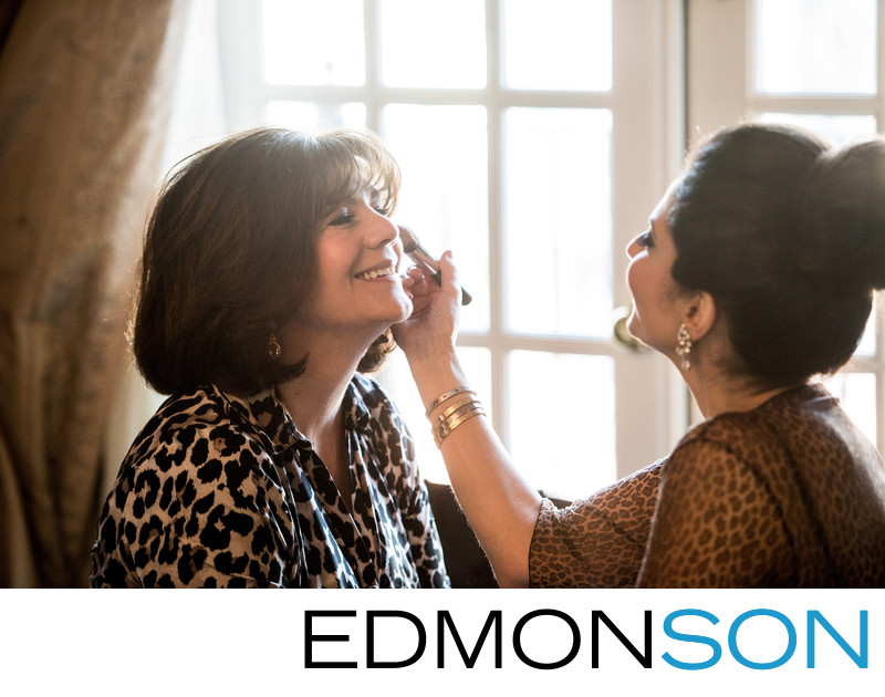 Bride Artfully Applies Mom's Makeup At Mansion