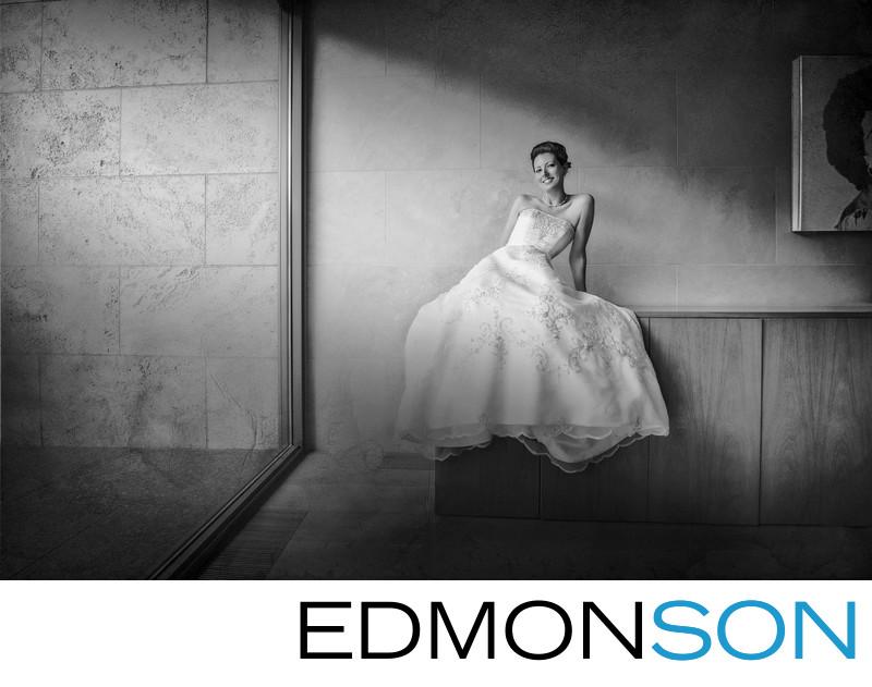 Playful Bride Kicks Back Before Nasher Grand Entrance