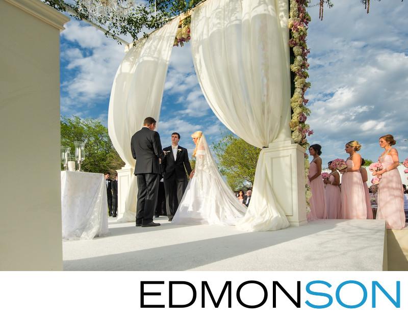 Grand Custom Altar For Outdoor Texas Estate Wedding
