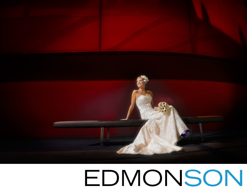 Modern Bride Has Portrait Made At Winspear
