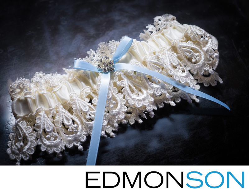 Garter Detail Shot Shows Something Blue