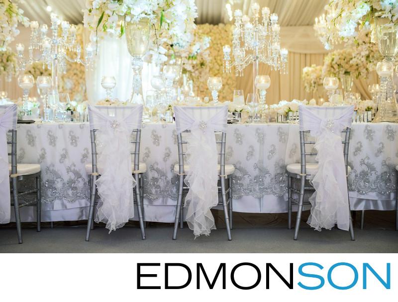 Silver Chairs Transform Private Estate Wedding