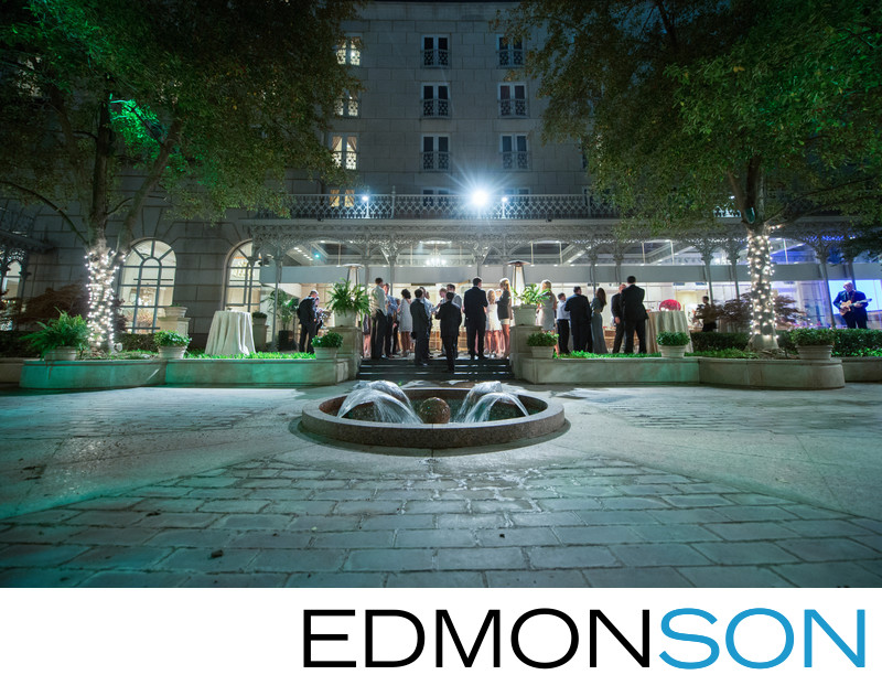 Outdoor Garden Wedding Reception At Crescent Dallas