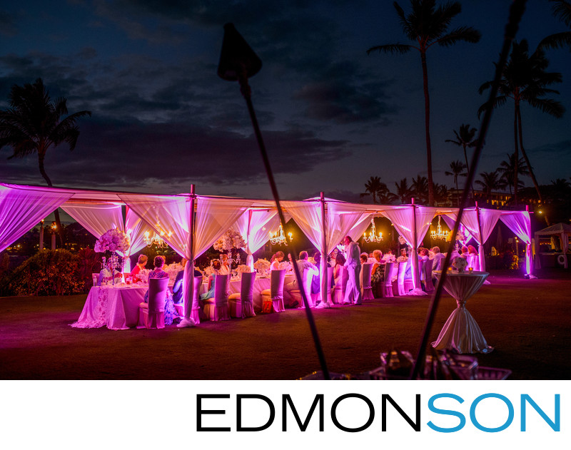 Perfect Four Seasons Maui Outdoor Wedding Reception