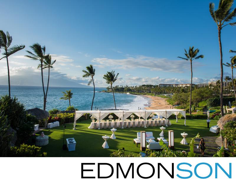 Beach Wedding Reception At Four Seasons Maui