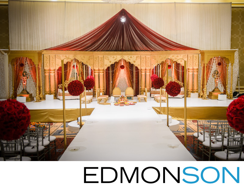 Indian Wedding At Hilton Anatole Wedding Mandap
