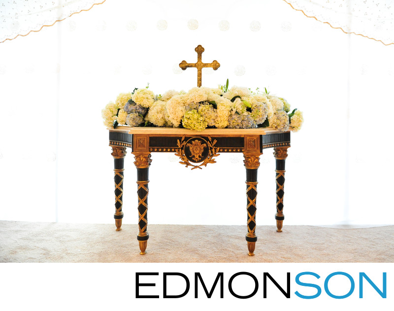 Indian Wedding Fusion Ceremony Altar At Ritz Dallas