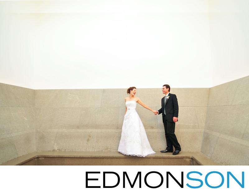 Dallas Nasher Sculpture Center Wedding Couple