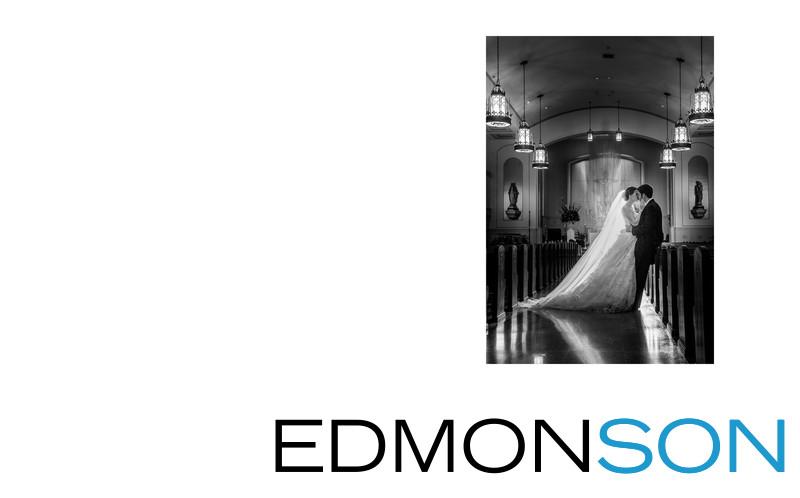 Bride & Groom After Wedding At Holy Trinity In Dallas