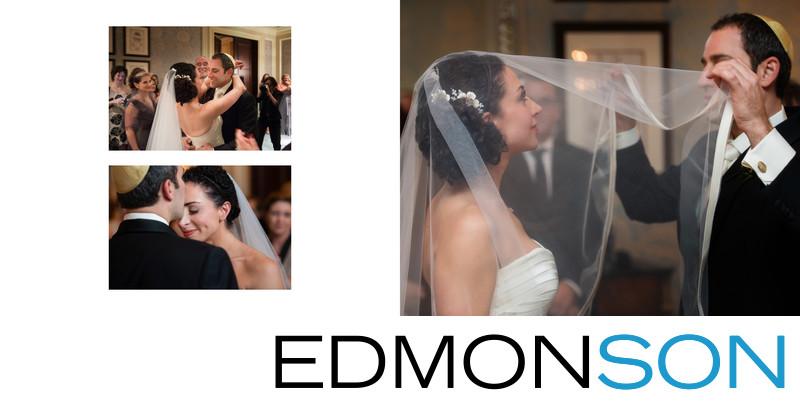 Jewish Groom Places Veil Over Bride At Ritz Dallas