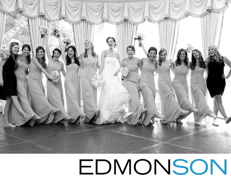 Bridesmaids Have Fun At Brook Hollow Wedding