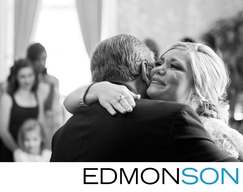 Houston Wedding Photography Bride Embraces Dad