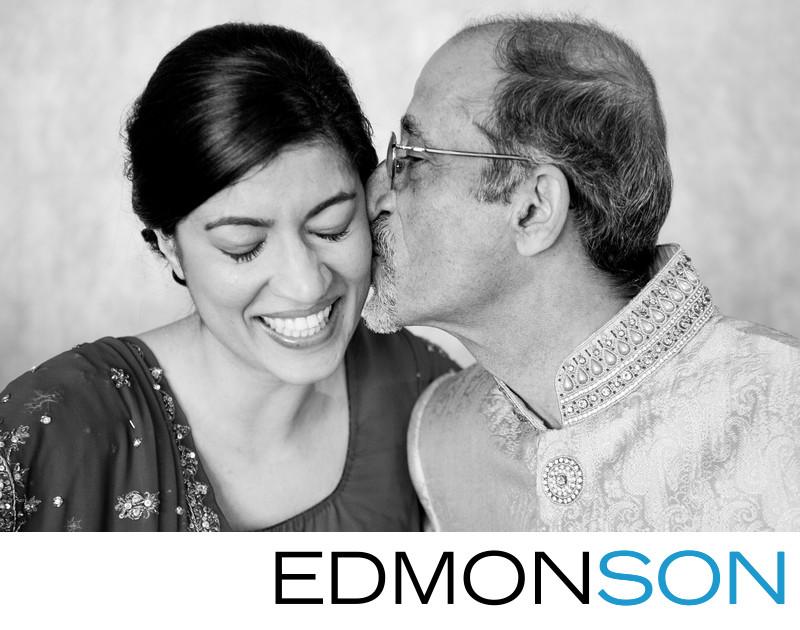 Gujarati Indian Father Kisses Bride's Cheek