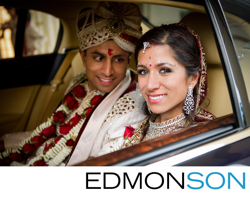 Punjabi Indian Wedding Exit At Ritz Carlton