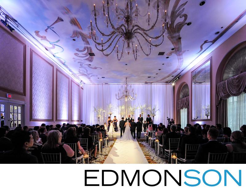 Crescent Hotel Wedding In Dallas Ballroom Ceremony