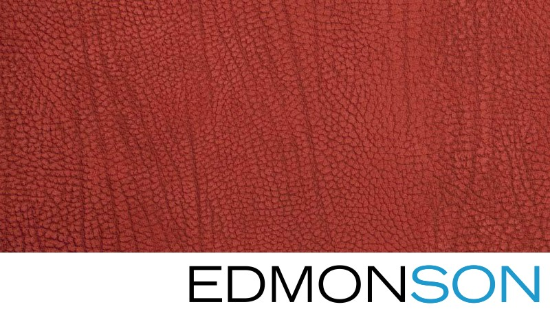 Tamarillo Contemporary Leather Cover Swatch Detail