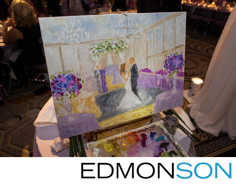 Live Event Painting By Susan Moss