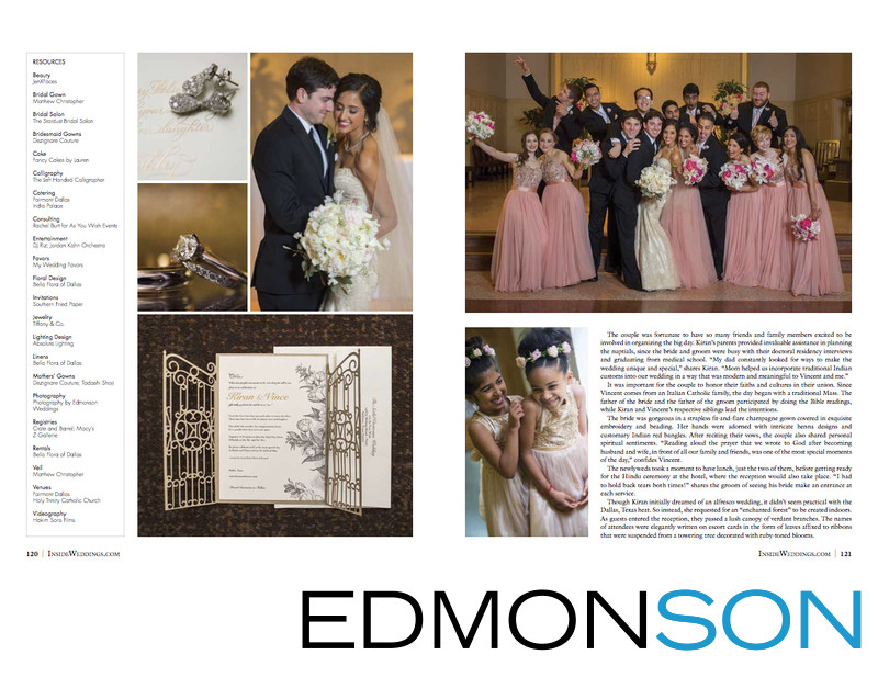 Catholic Weddings Featured In Inside Weddings Magazine