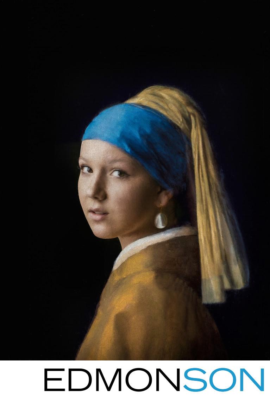 Girl With The Pearl Earring - Vermeer Tribute