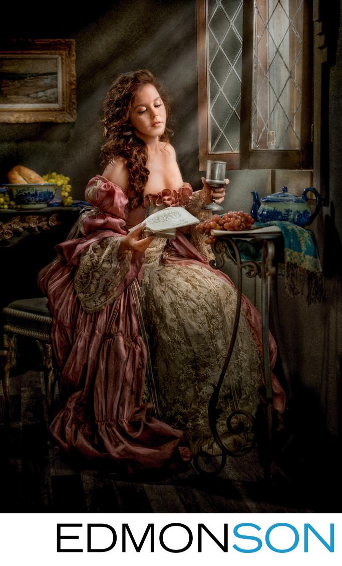 Vermeer Series - Woman Reading Letter II