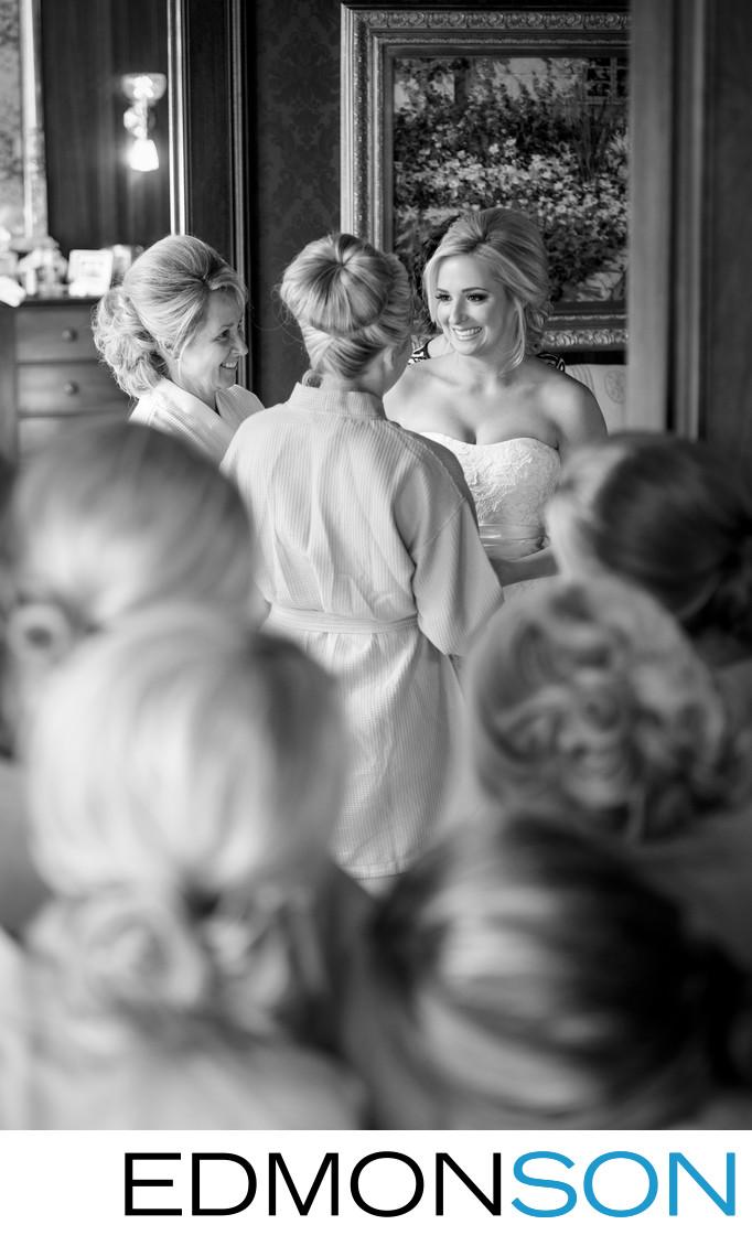 Bridesmaids Look On At Louisiana Plantation Wedding