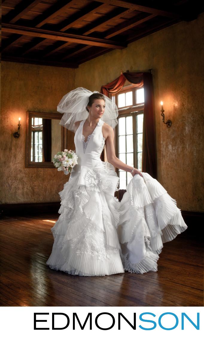 Dresser Mansion Bridal Portrait In Tulsa, OK