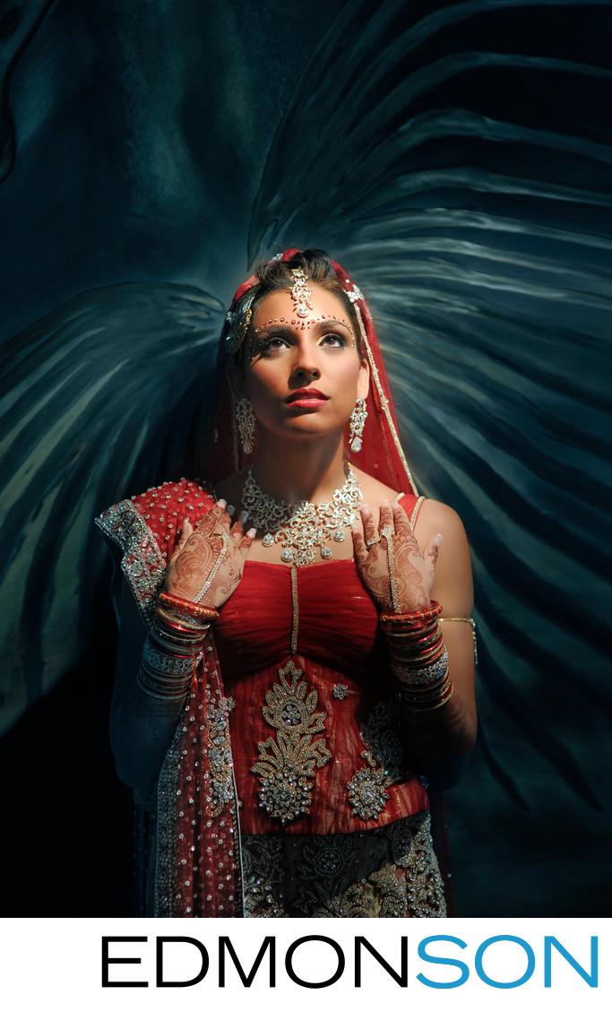 Quick Portrait Of Indian Bride Before Walking Aisle
