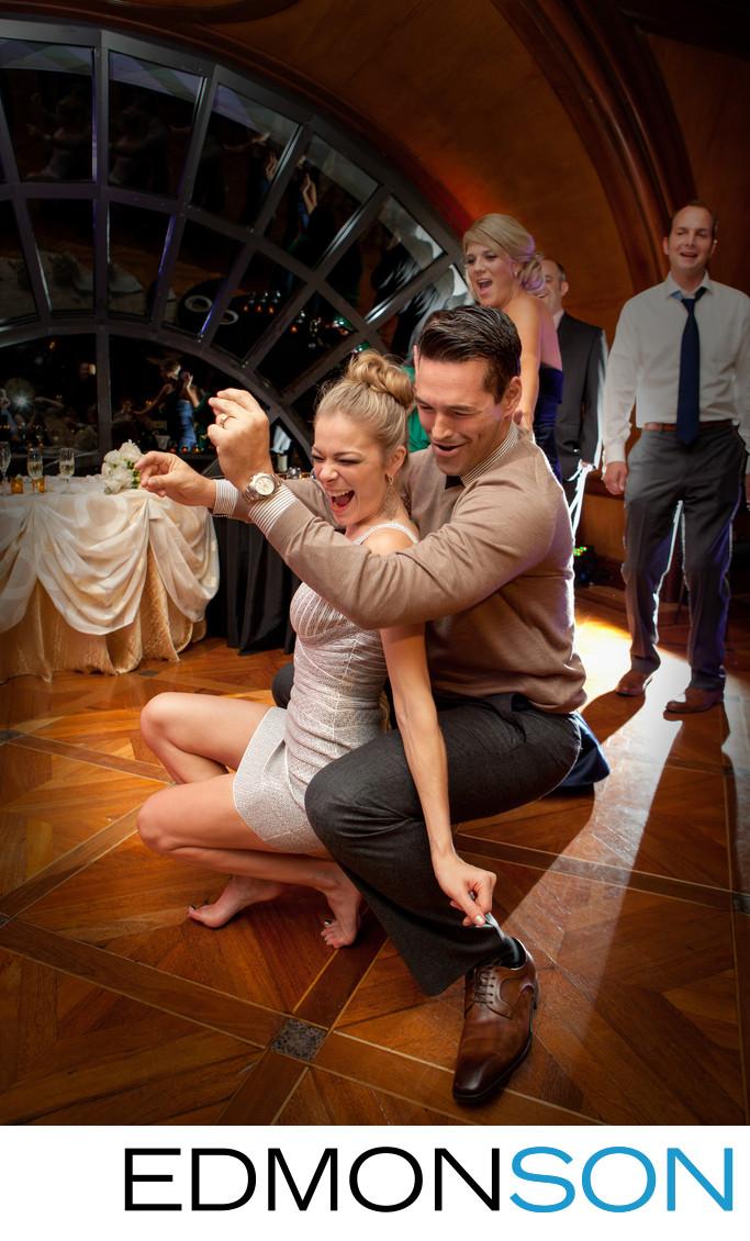 LeAnn Rimes & Eddy Cibrian Dance At Crescent Wedding