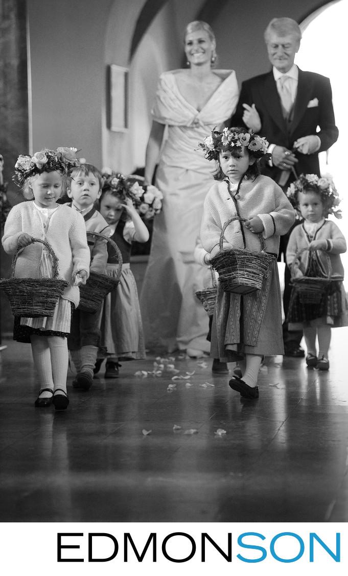 Austrian Bride Makes Grand Entrance At St. Gilgen