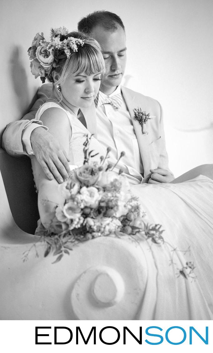 Los Poblanos Bride & Groom Share Special Wedding Moment