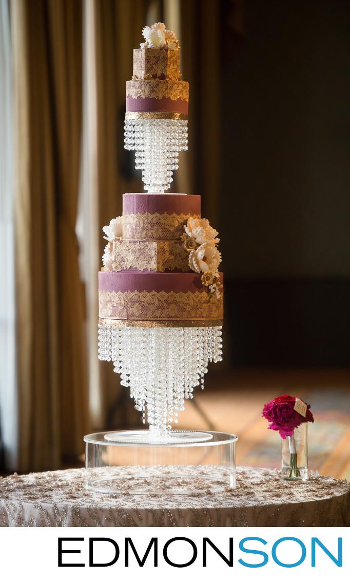Indian Wedding Cake At Fairmont Dallas Ballroom