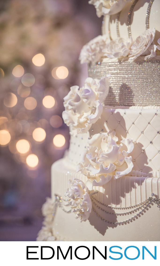 Gorgeous Floral Wedding Cake Detail