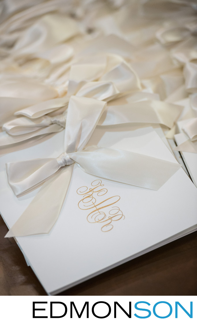 Programs Wait For Guests Before Wedding At SMU