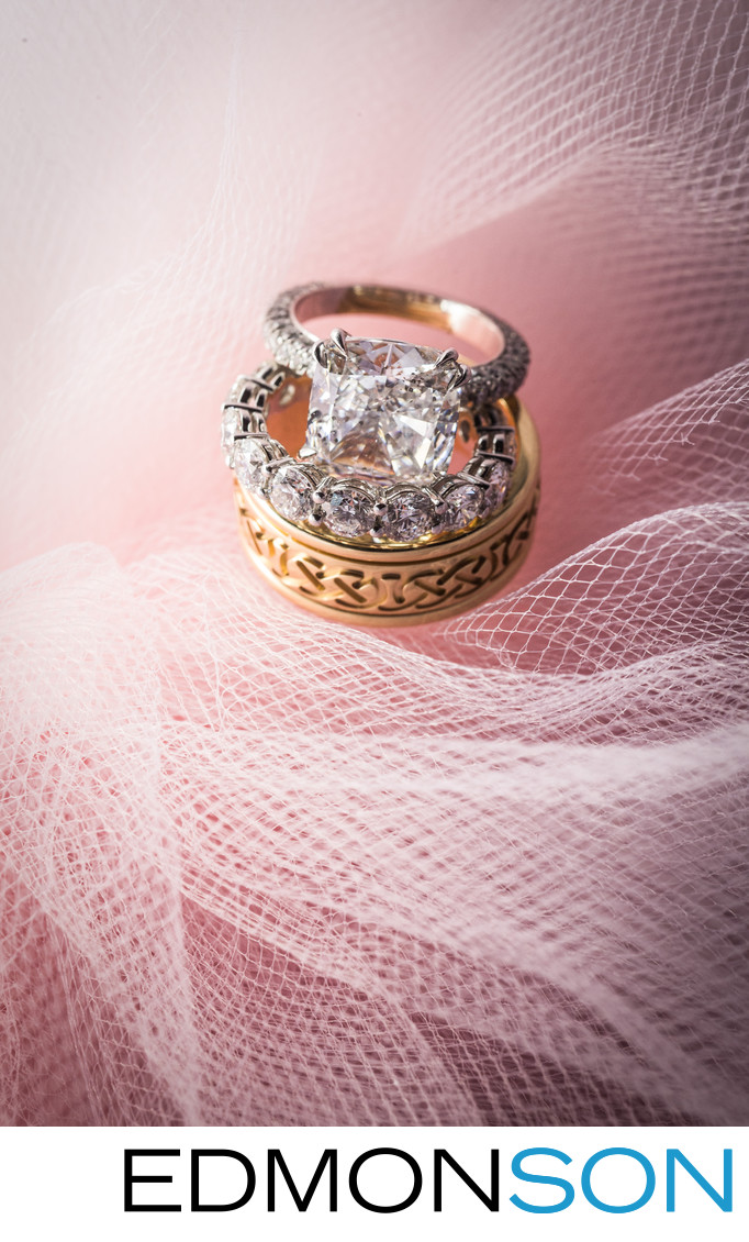Pink Tulle Wedding Rings Photo At Four Season Dallas