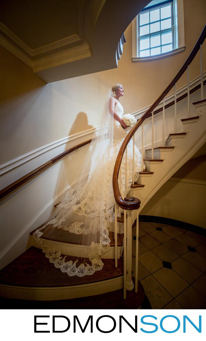 Bride Waits For Weddings At SMU Perkins Chapel