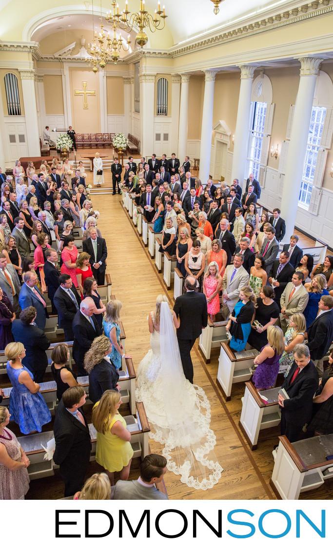 Grand Entrance To Wedding At SMU Perkins Chapel