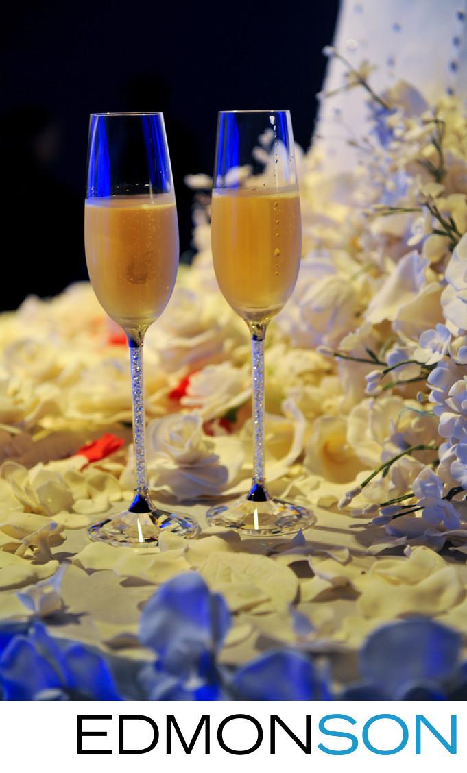 Wedding Toasting Flutes At Luxury Dallas Wedding