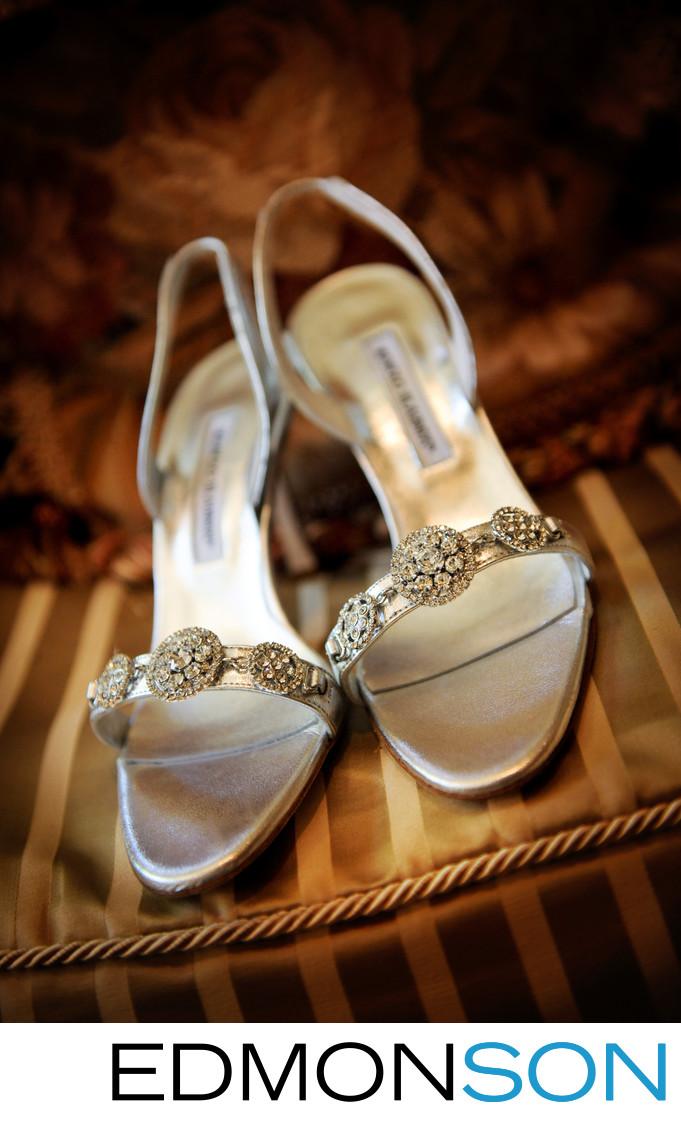 Diamond Wedding Shoes Dazzle Guests At Dallas Arboretum