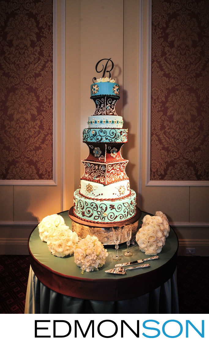 Luxury Wedding Cake At Ritz-Carlton Dallas