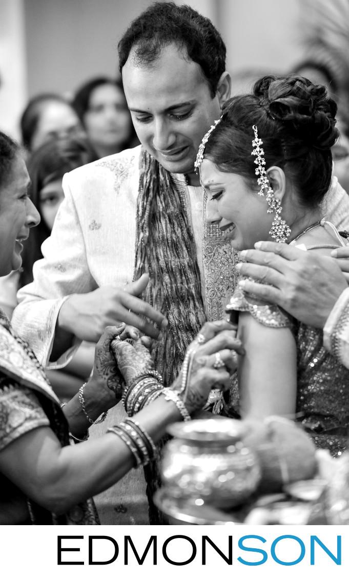 Tears Flow During Houston Indian Wedding Vidhi