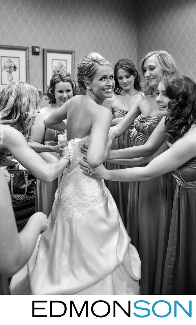 Renaissance Hotel Wedding As DFW Bride Getting Ready