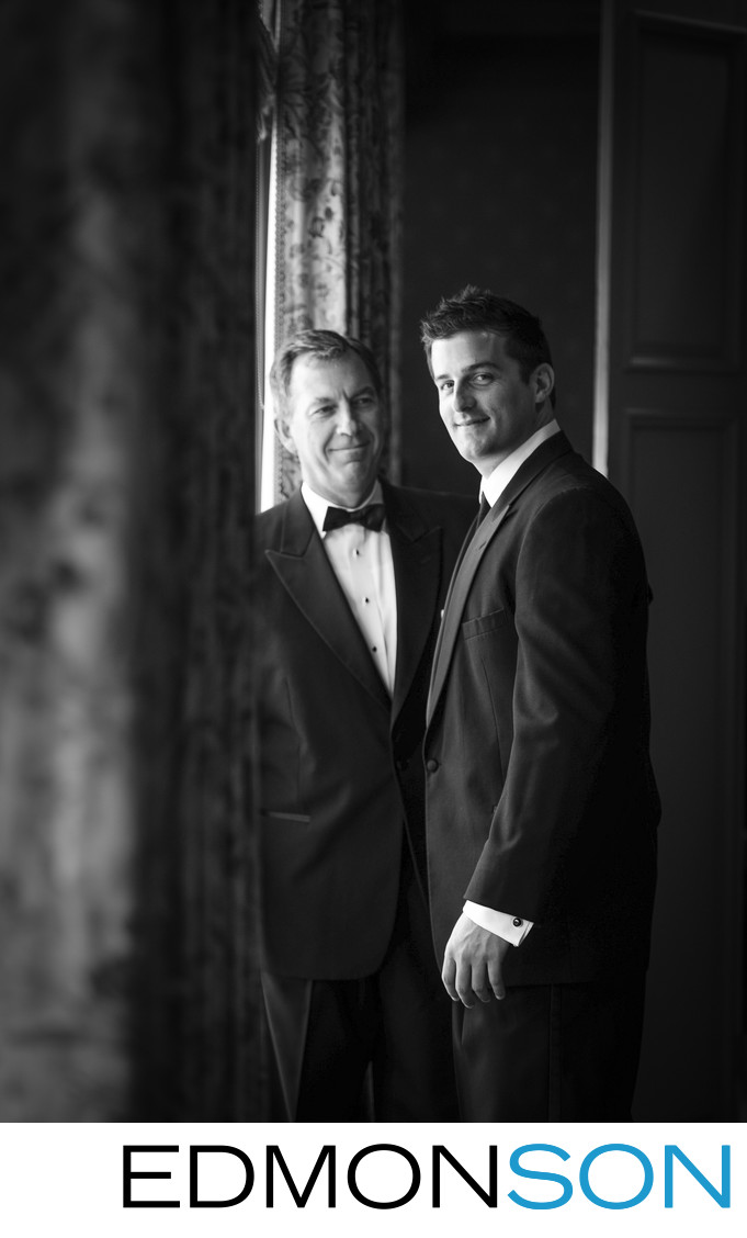 Father & Son Before Brook Hollow Wedding