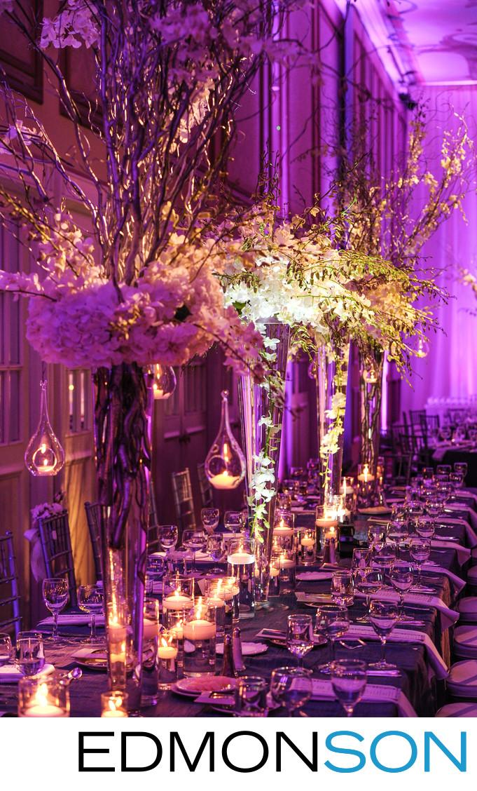 Rosewood Crescent Wedding Reception Decor In Dallas