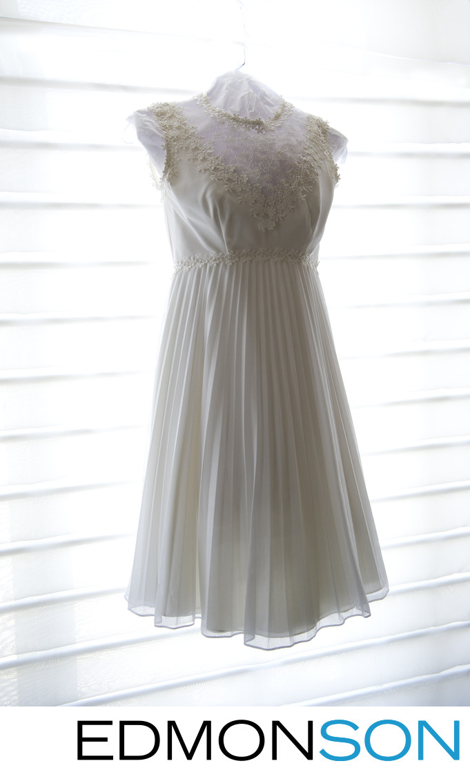 Mom's Wedding Dress Becomes Reception Gown Idea