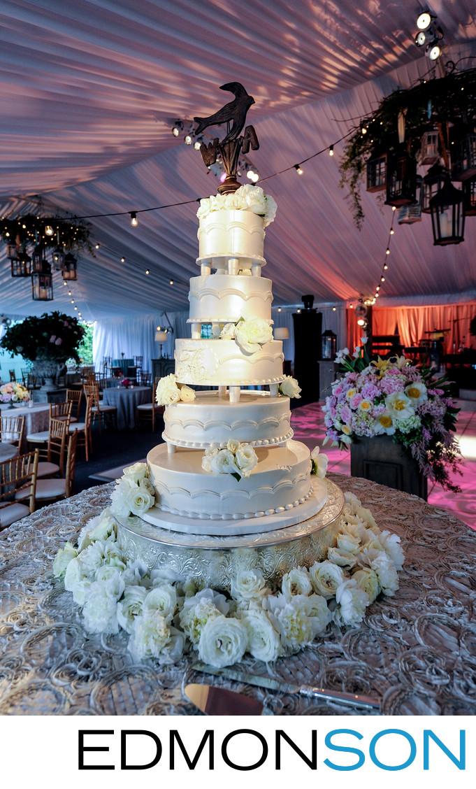 Todd Events Cake At White Rock Lake Wedding