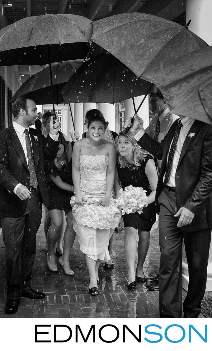 Rain Threatens Outdoor Wedding At White Rock Lake