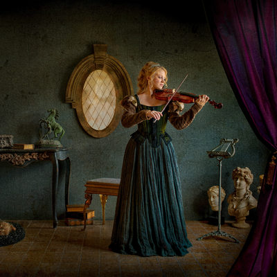 Vermeer Inspired Fine Art Photography - Woman Violin