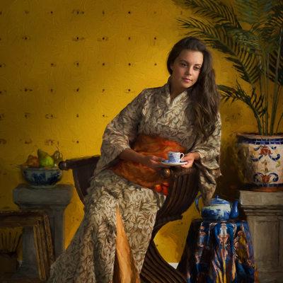 William Merritt Chase Tribute - Woman In Kimono