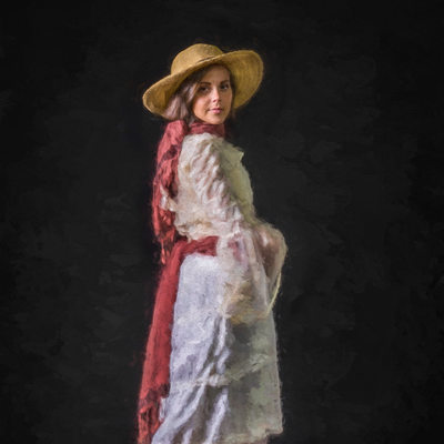 William Merritt Chase Tribute Woman In White Dress